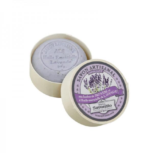 Lavendelseife in Spanschachtel, geöffnet