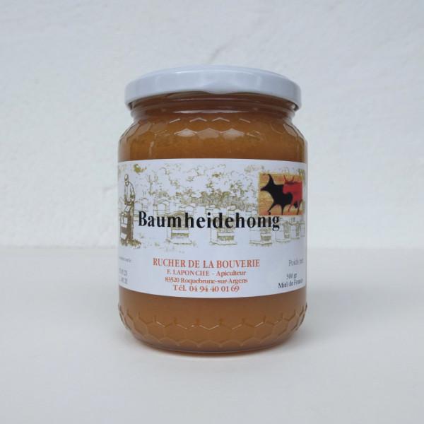 Baumheidehonig_Miel-de-Bruyere-blanche_500g, Vorderseite
