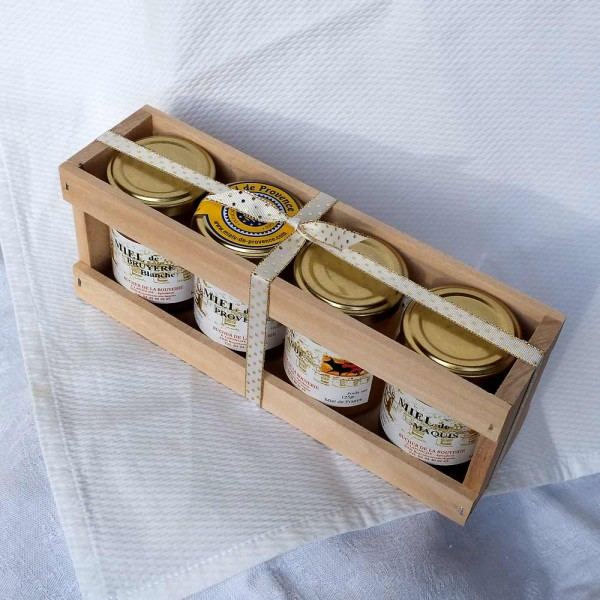 Provencehonig-Probierset, 4x 125 g (festlich)