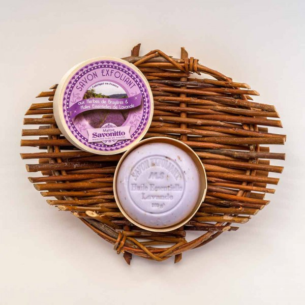 Lavendelseife in Spanschachtel
