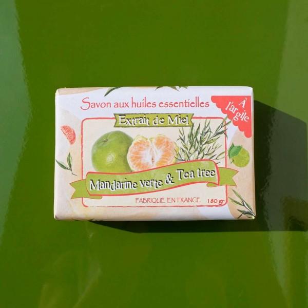 Honig-Mandarinen-Teebaum-Seife, Vorderseite
