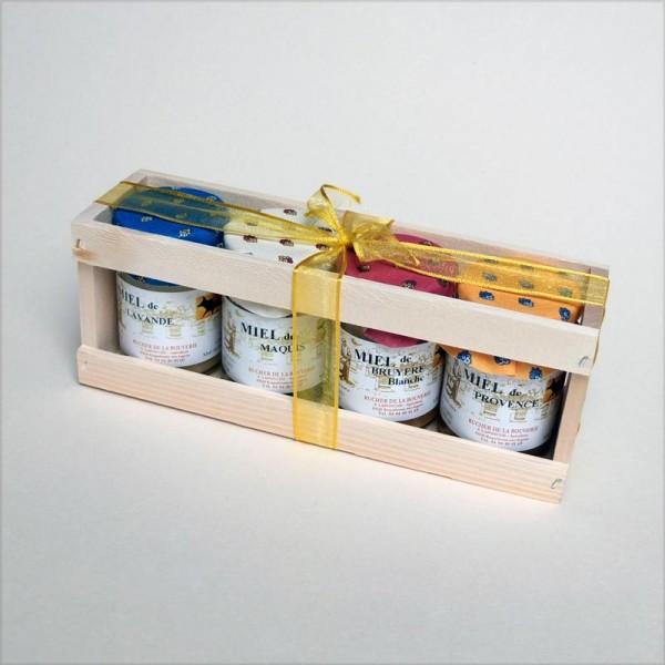 Provencehonig-Geschenkset, 4x 125 g